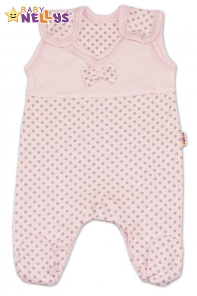 Dupačky Baby Nellys® - PUNTÍKY - sv.růžové/sv. šedé puntíky