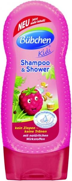 Bübchen dětský šampón a sprchový gel Malina -  230ml