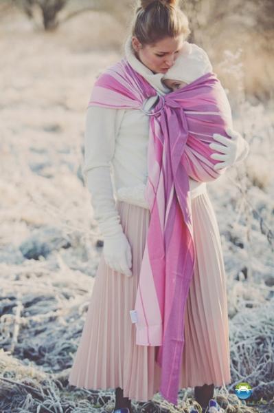 Little FROG Tkaný šátek na nošení dětí -  KUNZYT