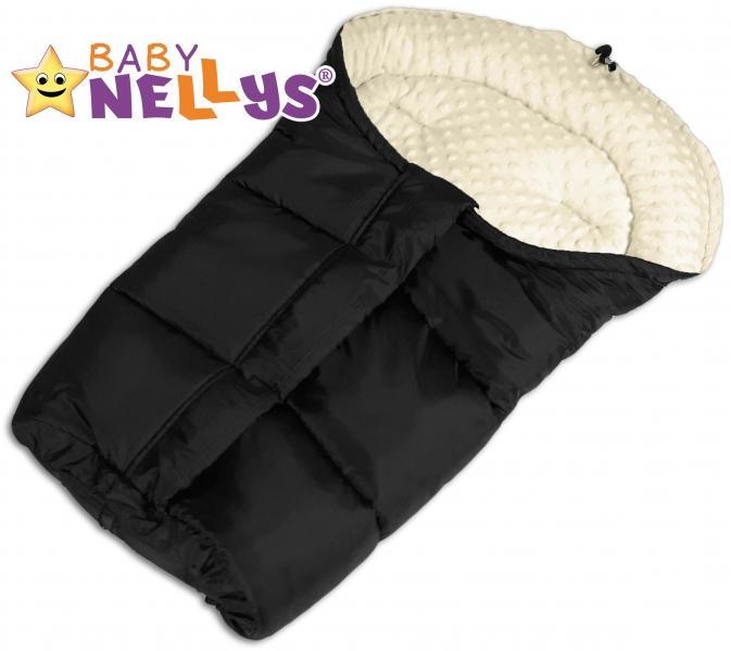 Fusák nejen do autosedačky Baby Nellys ® MINKY - smetanový