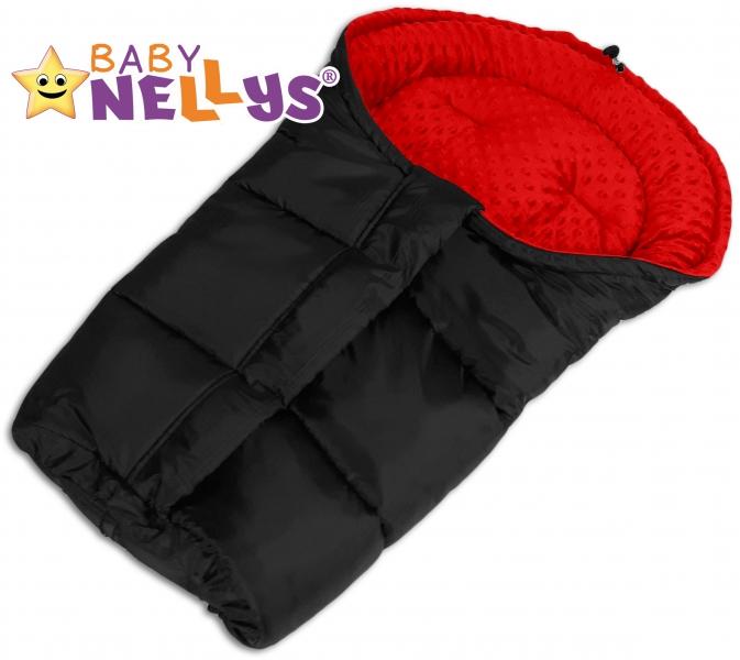 Fusák nejen do autosedačky Baby Nellys ® MINKY -  červený