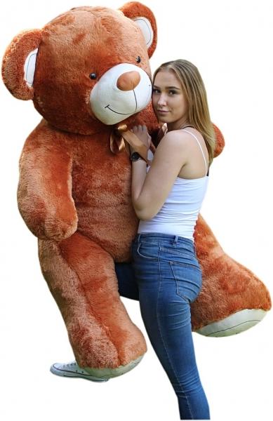 Obr plyšový Medvěd - hnědý - 190 cm