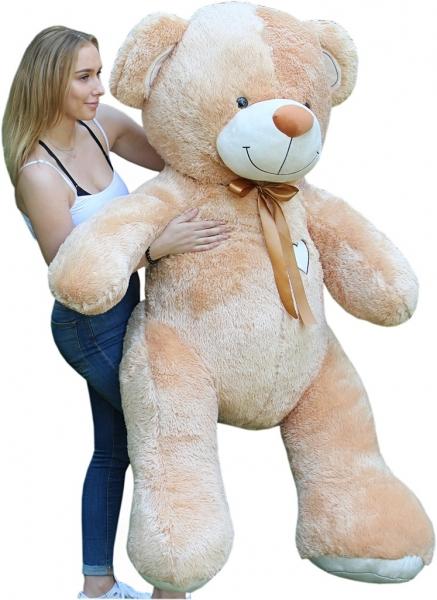 Obr plyšový Medvěd - béžový - 190 cm