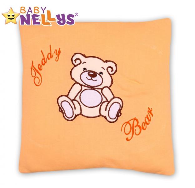 Baby Nellys Polštářek 40x40 Teddy Bear - broskvový