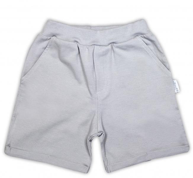 Bavlněné kraťasky NICOL JEŠTĚRKA - šedá, Velikost: 98 (24-36m)