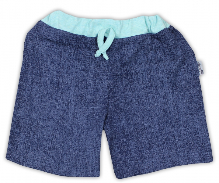Bavlněné kraťasky NICOL ŽIRAFKA - jeansová