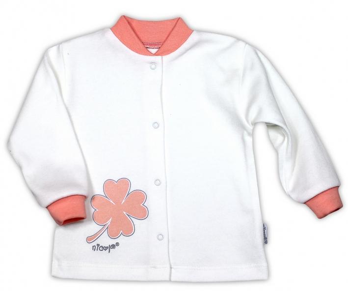 Bavlněná košilka NICOL ČTYŘLÍSTEK - bílá, Velikost: 80 (9-12m)