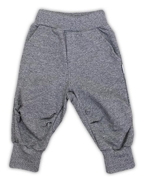 Bavlněné tepláčky NICOL AUTO/SUPERSTAR/GEPARDÍK - melír tm. šedá, Velikost: 74 (6-9m)