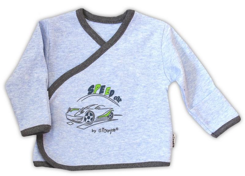 Košilka NICOL AUTO - zapínání bokem - melír sv. modrá