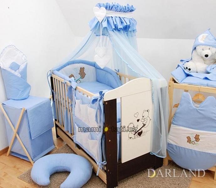 Luxusní mega set s moskytierou - Méďové v modré
