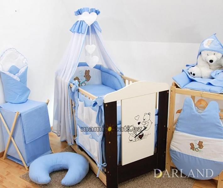 Luxusní mega set s výšivkou Š - Méďové v modré