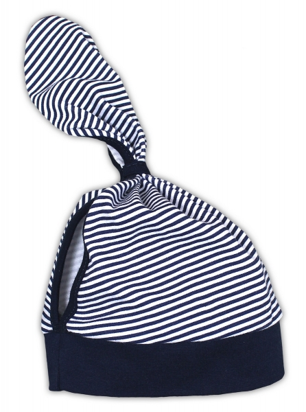 Dětský šátek na hlavičku NICOL PIRÁTI - modrý proužek