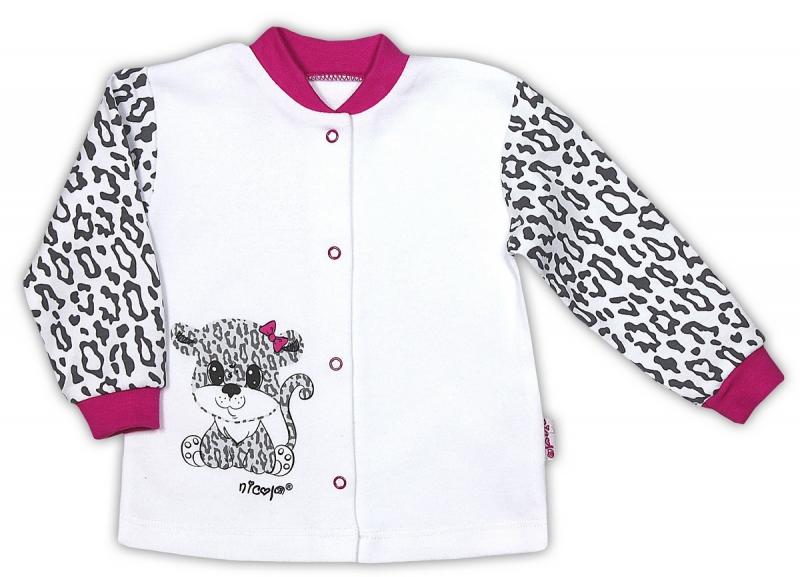 Bavlněná košilka NICOL GEPARDÍK - zapínání středem - bílá, Velikost: 80 (9-12m)