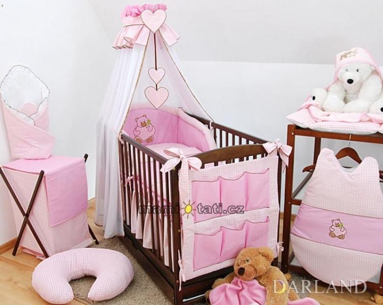 Luxusní mega set Š - Medvídek se srdíčkem kostička růžová
