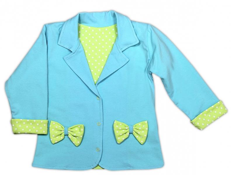 Kabátek/sáčko NICOL KVĚTINKA - sv. modrá, Velikost: 80 (9-12m)