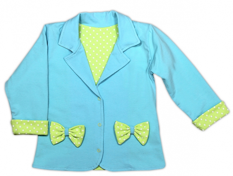 Kabátek/sáčko NICOL KVĚTINKA - sv. modrá, Velikost: 98 (24-36m)