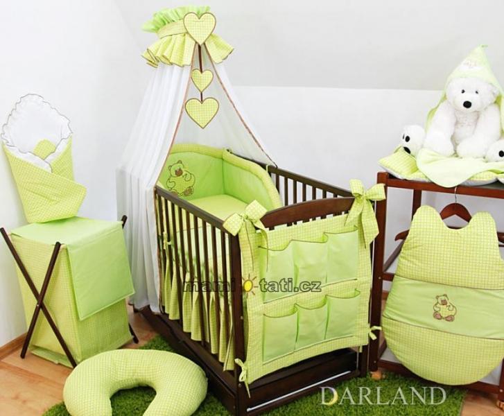 Luxusní mega set Š - Medvídek se srdíčkem kostička zelená