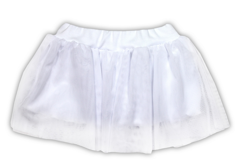 Tutu suknička NICOL KVĚTINKA - bílá, Velikost: 98 (24-36m)