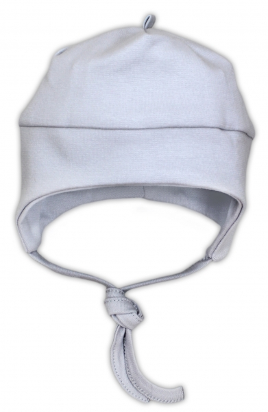 Bavlněná čepička NICOL JEŠTĚRKA - šedá, Velikost: 62 (2-3m)
