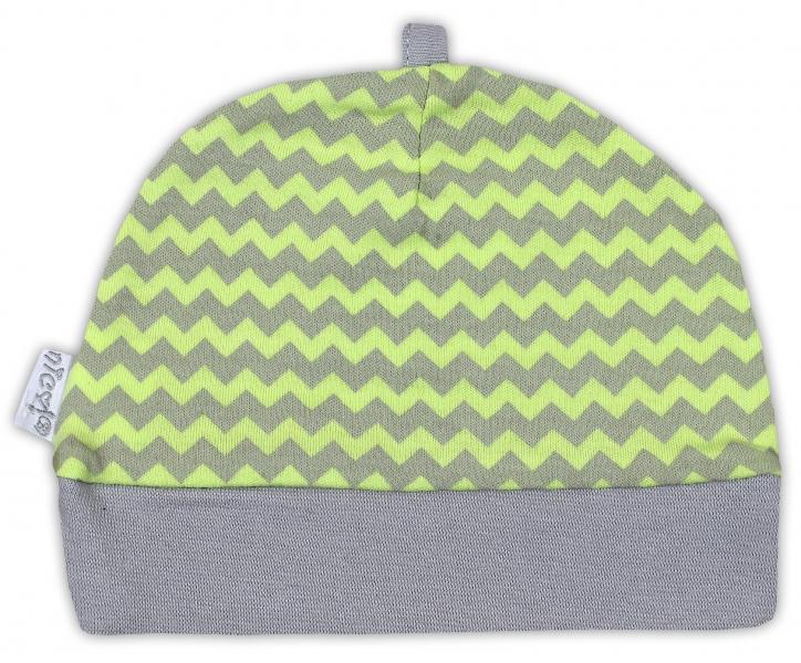 Čepička NICOL JEŠTĚRKA - zigzag hráškově zelená v.48