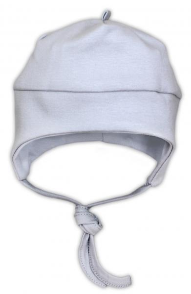 Bavlněná čepička NICOL JEŠTĚRKA - šedá, Velikost: 48