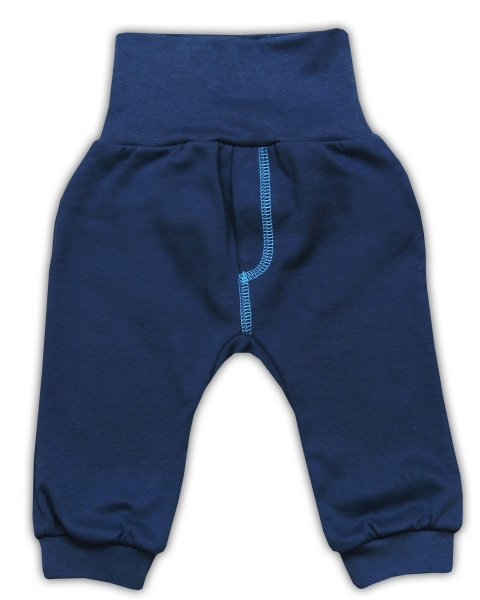 Bavlněné tepláčky NICOL SEDMIČKA - tmavě modrá