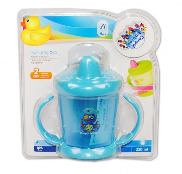 Hrneček Canpol Babies s tvrdým pítkem - modrý