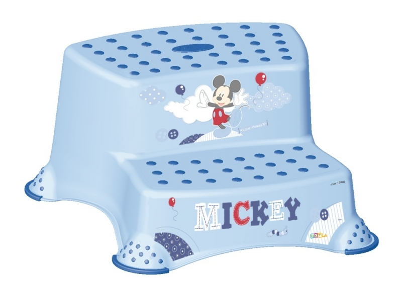 Keeeper Stolička - schůdky s protiskluzovou funkcí - Mickey Mouse - modrá