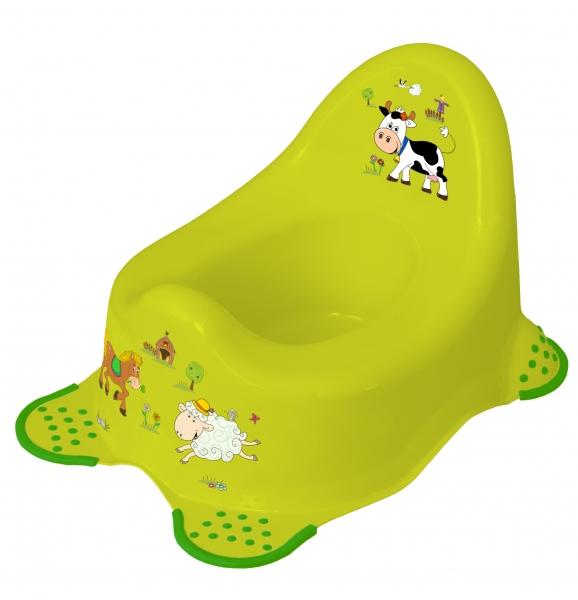 Nočník Funny Farm s protiskluzem - zelený