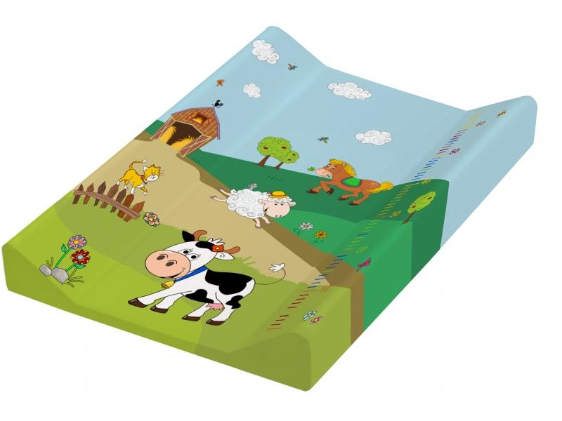 Keeeper Přebalovací podložka Funny Farm - tvrdá, kravička