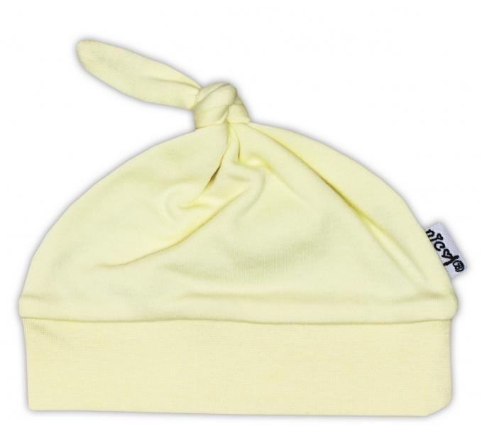 Čepička NICOL - žlutá, Velikost: 48