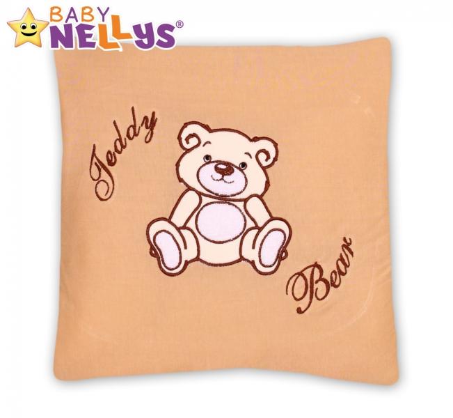 Baby Nellys Polštářek 40x40 Teddy Bear - sv. hnědý