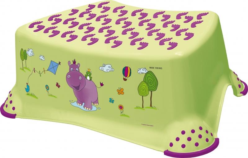 Keeeper Stolička, schůdek s protiskluzovou funkcí  - Hippo - limetka