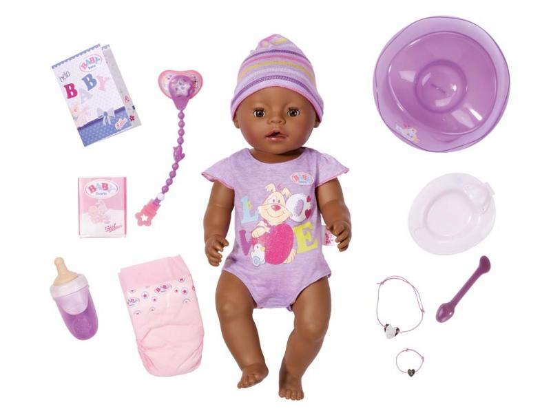 Panenka interaktivní BABY born černoušek