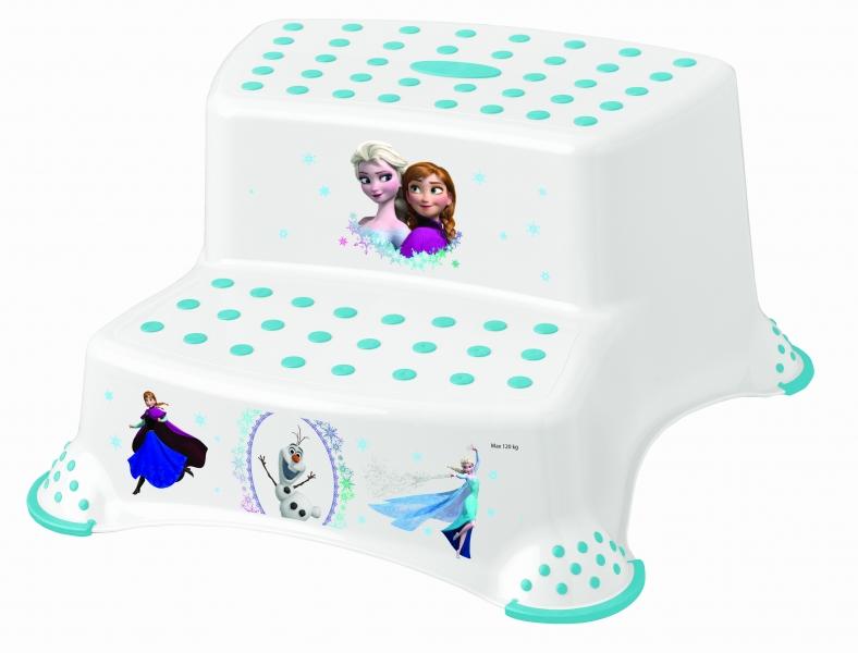 Stolička - schůdky s protiskluzovou funkcí - Frozen - bílá