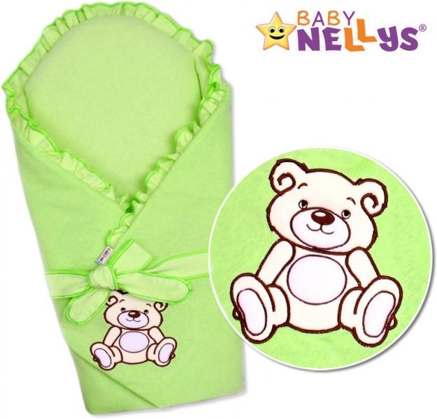 Zavinovačka s výztuží TEDDY BEAR Baby Nellys - velur - zelená