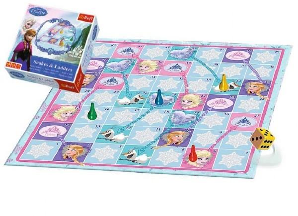 Hadi a žebříky Ledové království/Frozen společenská hra v krabici 28x28x6cm