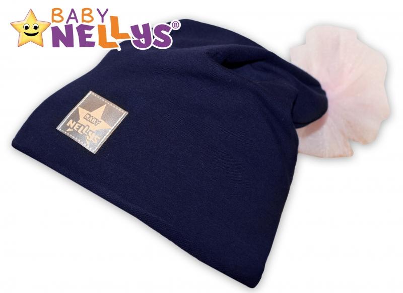 Bavlněná čepička Tutu květinka Baby Nellys ® - granátová, 48-52