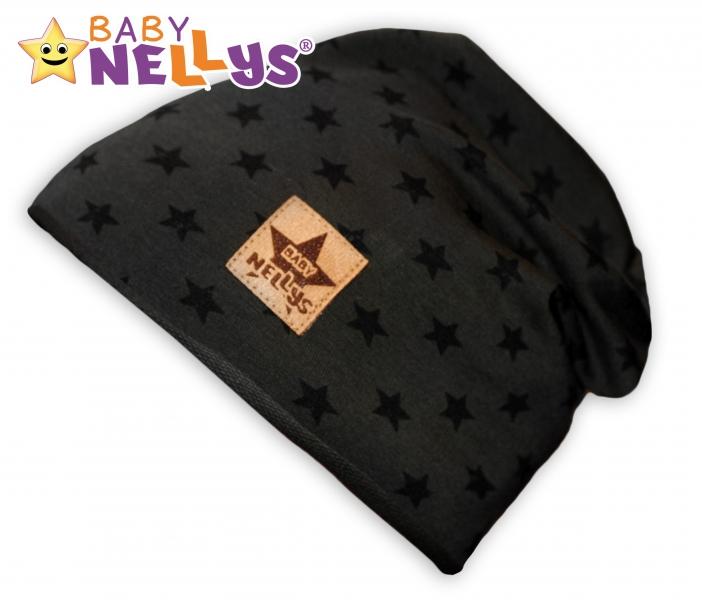 Bavlněná čepička s hvězdičkami Baby Nellys ® - zelená, 48-52, Velikost: 48/52 čepičky obvod