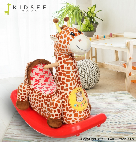 Plyšová houpací ŽIRAFKA - hnědá (Žirafka, hnědá, 3+)