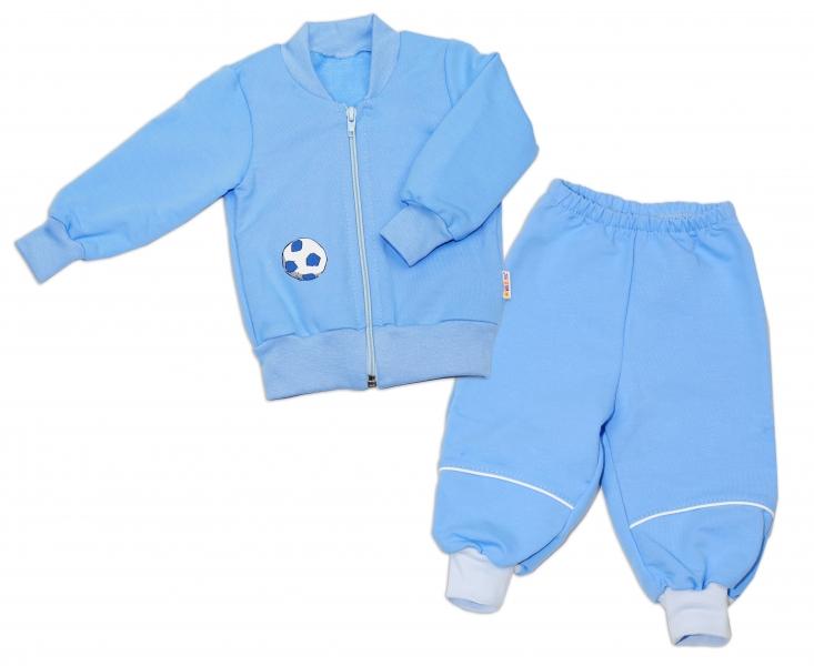 Bavlněná tepláková souprava Baby Nellys ® - modrá, Velikost: 68 (4-6m)