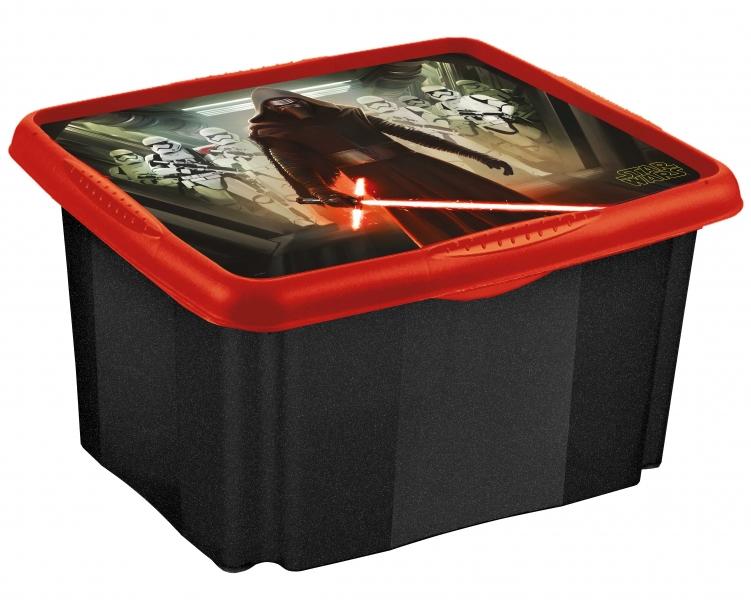 Keeeper Box na hračky Star Wars  24 l - černý