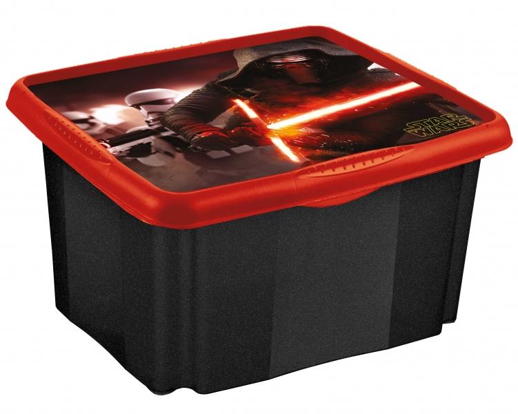Keeeper Box na hračky Star Wars  45 l - černý