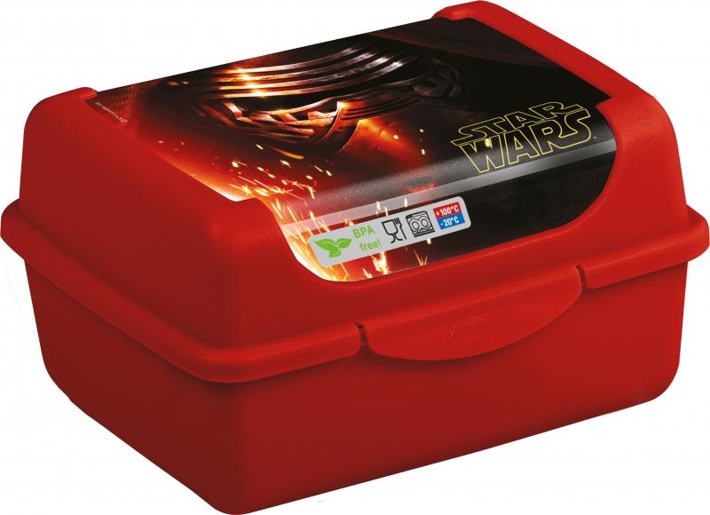 Keeeper Svačinkový box Star Wars 0,35 l - červený