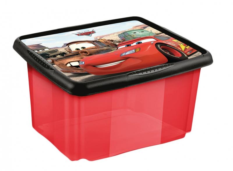 Box na hračky Cars  24 l - červená