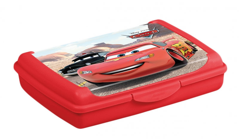Keeeper Svačinkový box Cars 0,5 l  - červený