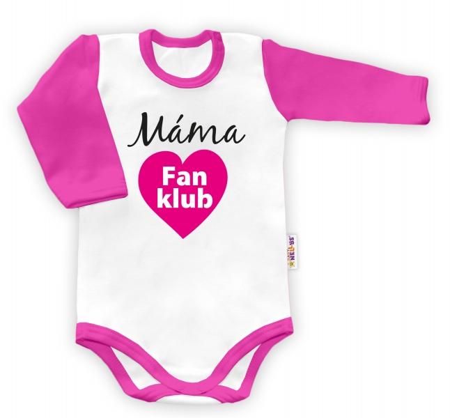 Baby Nellys Body dlouhý rukáv Máma Fan klub - holka