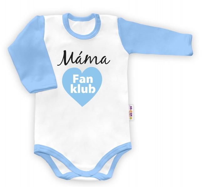 Baby Nellys Body dlouhý rukáv Máma Fan klub - kluk