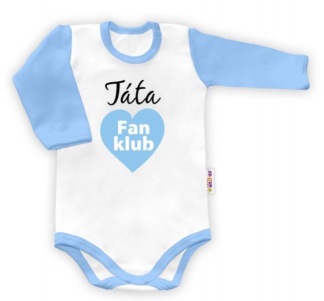 Baby Nellys Body dlouhý rukáv vel. 86, Táta Fan klub - klukvel. 86 (12-18m)