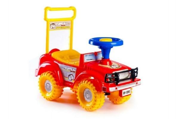 Odrážedlo auto červené 53,5x48,3x26cm v krabici od 12 do 35 měsíců
